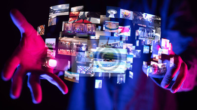 Obraz Internet broadband and multimedia streaming entertainment