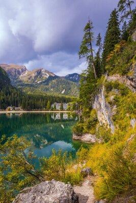 Italy, lake Lago di Braies