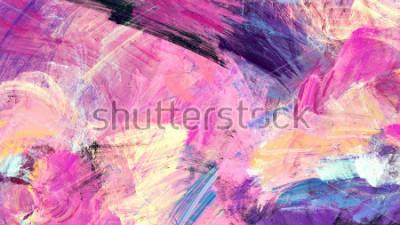 Obraz Jasne artystyczne plamy. Malarstwo abstrakcyjne tekstury kolorów. Nowoczesny futurystyczny wzór. Multicolor dynamiczne tło. Fraktalna grafika do kreatywnego projektowania graficznego.