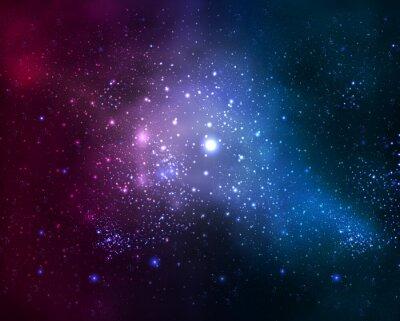 Obraz jasne rozmyte galaxy