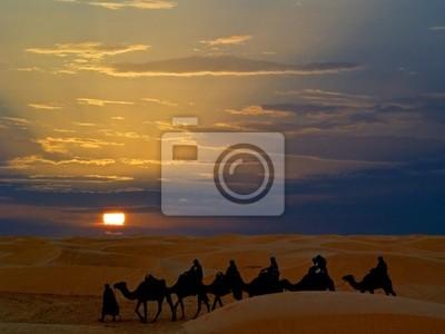 Jazda na wielbłądzie pustyni w Tunezji