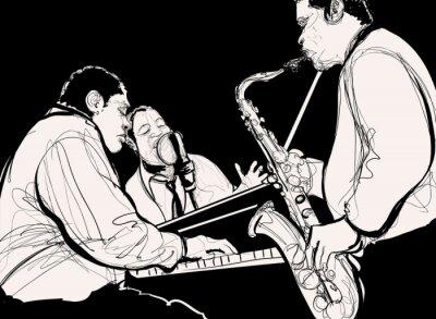 Obraz Jazz band