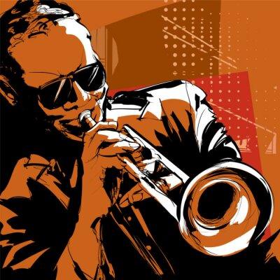 Obraz Jazz trąbka gracz
