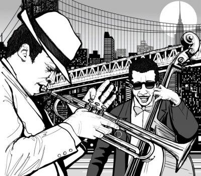 Obraz jazz w Nowym Jorku