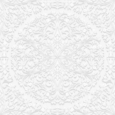 Obraz Jednolite kwiatowy wzór w tradycyjnym stylu