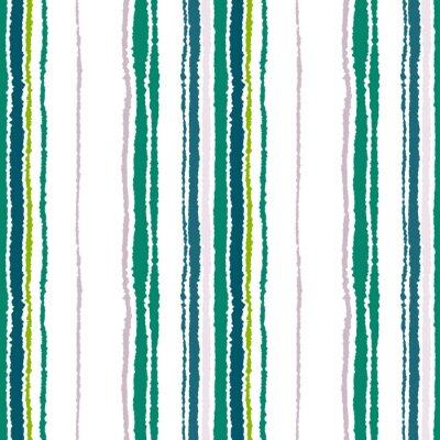 Obraz Jednolite pasy wzoru. Pionowe linie z rozdartym efekt papieru. Strzępić tła krawędzi. Światło Kontrast ciemnoszary, oliwka, zielone kolory na białym tle. Wektor
