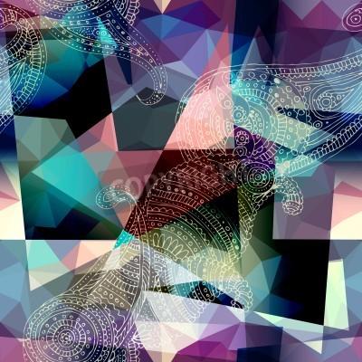 Obraz Jednolite tło wzór. Imitacja Kubizm styl malowania.