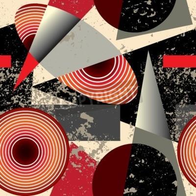 Obraz Jednolite tło wzór w stylu pattern.Abstract kubizm