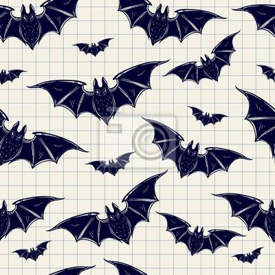 Obraz Jednolite tło z nietoperzy.