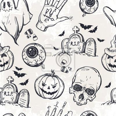Obraz Jednolite wzór Halloween.