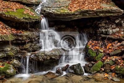 Jesieni Whitewater przy Oglebay parkiem - Wheeling, Zachodnia Virginia