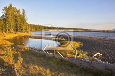 Jezioro na równinie