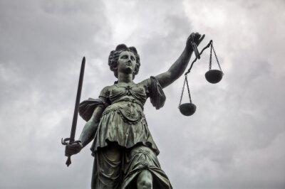 Obraz Justitia Statua w Frankfurcie nad Menem
