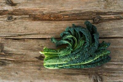 Obraz Kale lub liści kapusty
