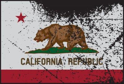 Obraz Kalifornia Oznacz Grunged