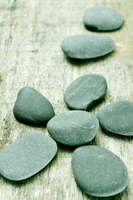 Obraz kamienie na starym powierzchni drewnianych