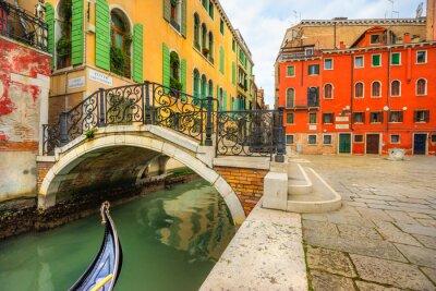 Obraz Kanał w Wenecji, Włochy