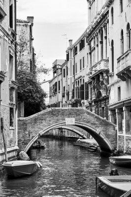 Obraz Kanał wenecki z małym mostkiem