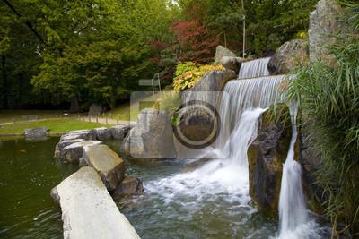 Kaskada Wodospad w Ogrodzie Japońskim, Hasselt, Belgia