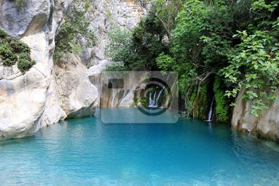 ke with blue water in Goynuk canyon, Kemer,  Turkey