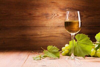 Obraz Kieliszek białego wina.