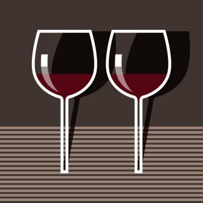Obraz Kieliszki do wina