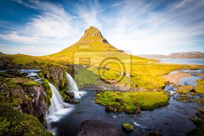 Kirkjufell Góry, Islandia, Snaefellsnes półwysep krajobraz