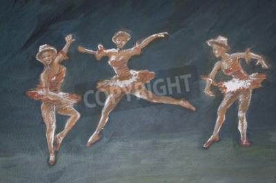 Obraz Klasyczny żeński Baletnicy sztuki ilustracji