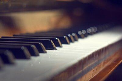 Obraz Klawiatury fortepianu tle z selektywnej focus