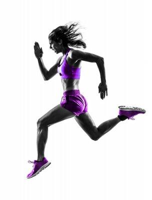 Obraz Kobieta biegacz biegacz joggingu sylwetka