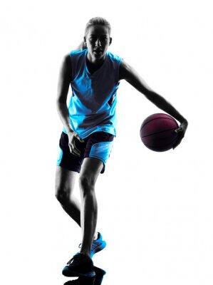 Obraz Kobieta koszykarz sylwetka