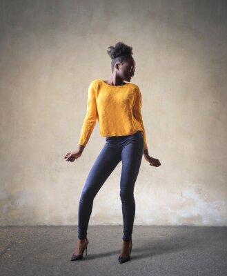 Obraz kobieta stojąca