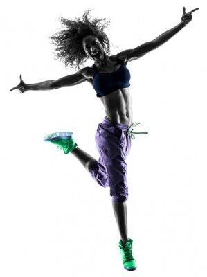 Obraz kobieta tancerz taniec Zumba ćwiczenia sylwetkę