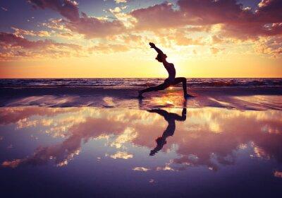 Obraz kobieta uprawiania jogi