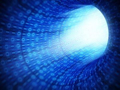 Obraz Kod binarny tunelu