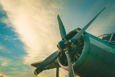 Obraz Kokpit starej samolotu. Opuszczony statek powietrzny