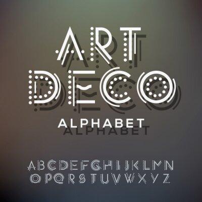 Obraz Kolekcja liter alfabetu, w stylu art deco