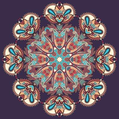 Obraz Koło ornament koronki okrągły ozdobny wzór geometryczny serwetka