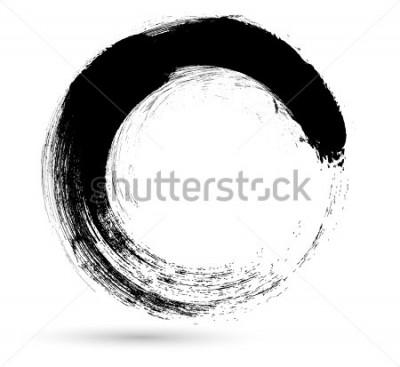 Obraz Koło pędzla. Szablon projektu Logo wektor. Twirl Grunge Kształty.