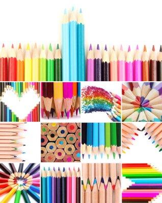 Obraz Kolor kredki collage