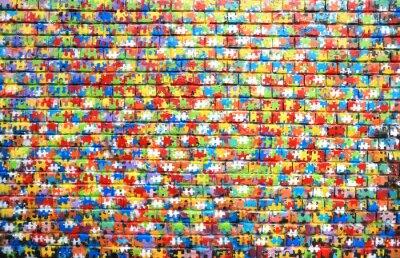 Obraz Kolor tła ulicy graffiti na ścianie z cegły