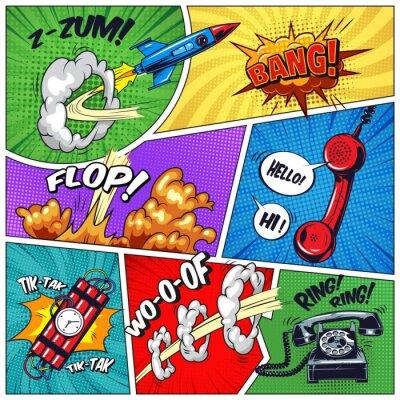 Obraz Kolorowa koncepcja pop-artu