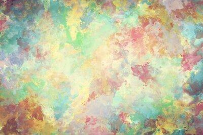 Obraz Kolorowe akwarela farby na płótnie. Super wysokiej rozdzielczości i jakości tle