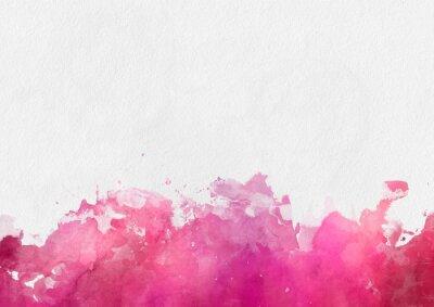 Obraz Kolorowe czerwony akwarela farby szablon