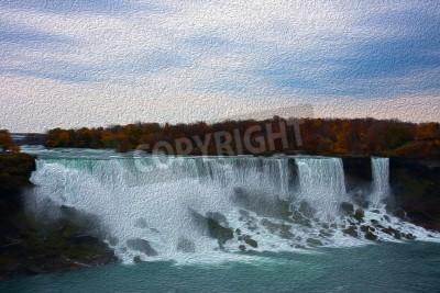 Obraz Kolorowe jak malowanie obrazu wody w upadku