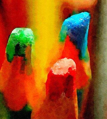 Obraz Kolorowe kredki