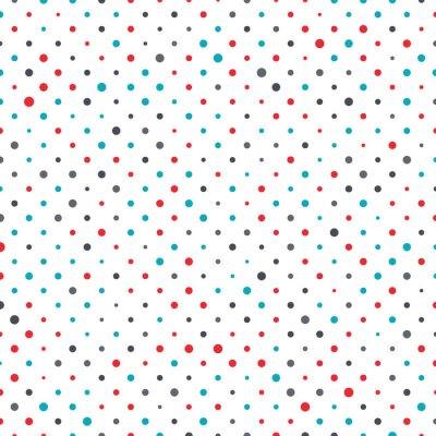 Obraz Kolorowe kropki w tle