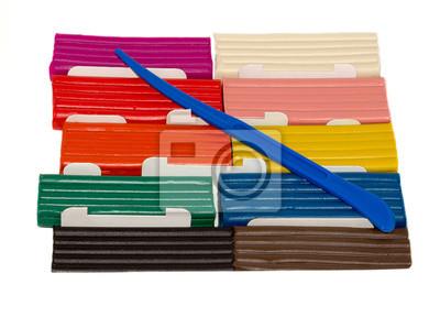 kolorowe plastelina