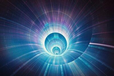 Obraz Kolorowe prędkość warp koncepcja 3D tunelu