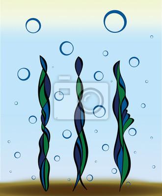 Obraz Kolorowe rośliny podwodne